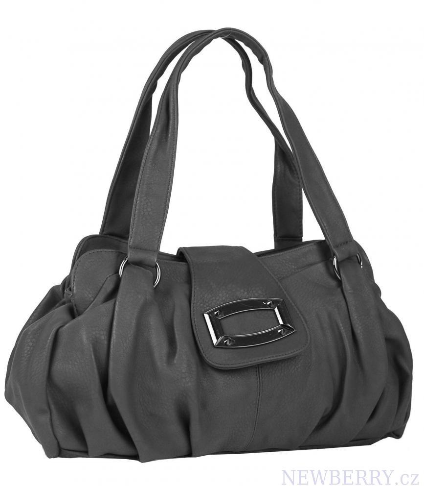 Dámská kabelka na rameno 818 středně šedá