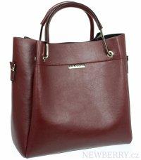 435a569e34 KONO pevná látková dámska kabelka cez rameno hnedá khaki   NEWBERRY ...