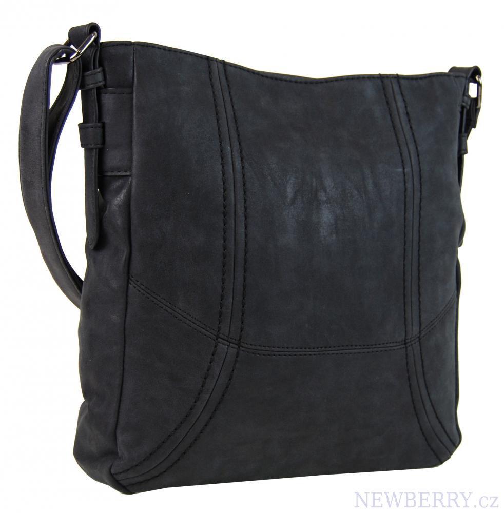 Dámská broušená crossbody kabelka C008-2 černá