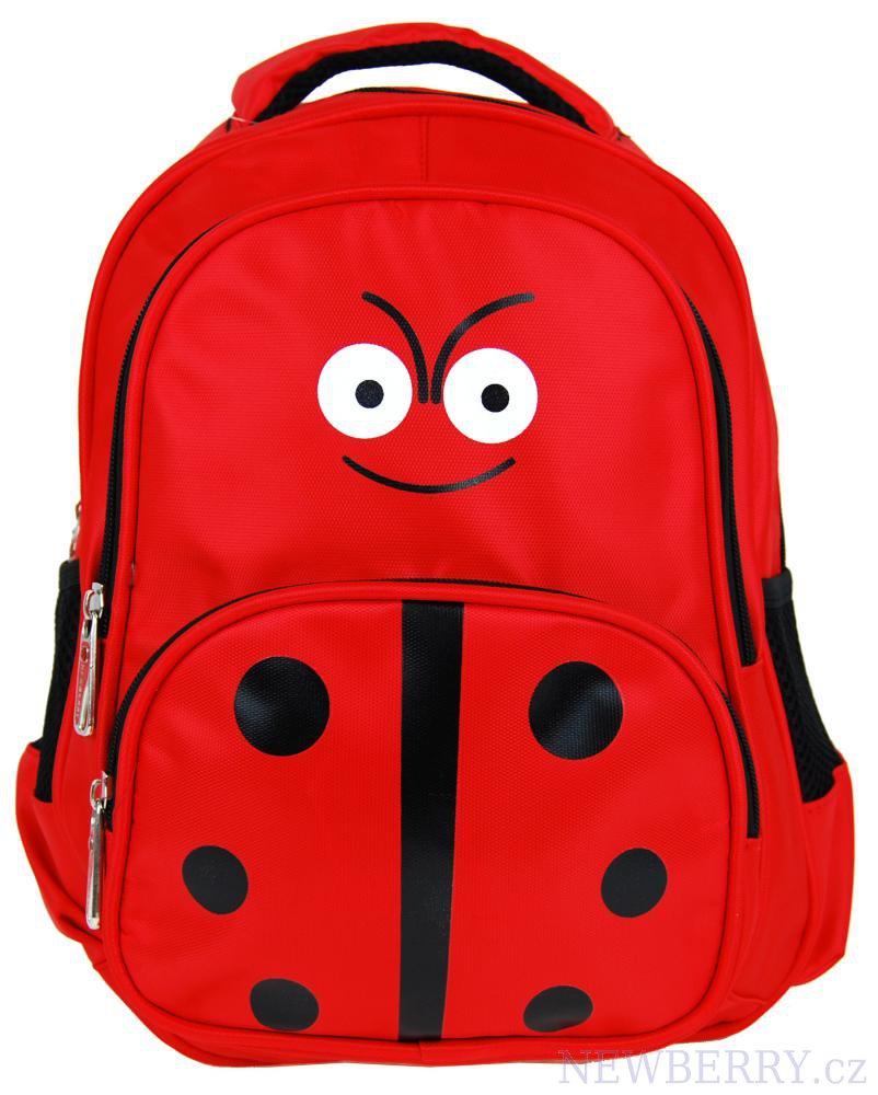 Dětský batoh L12001 červená beruška