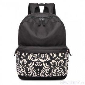Černý unisex batoh do školy s vodoodpudivou úpravou Miss Lulu ... 20c9bdd372