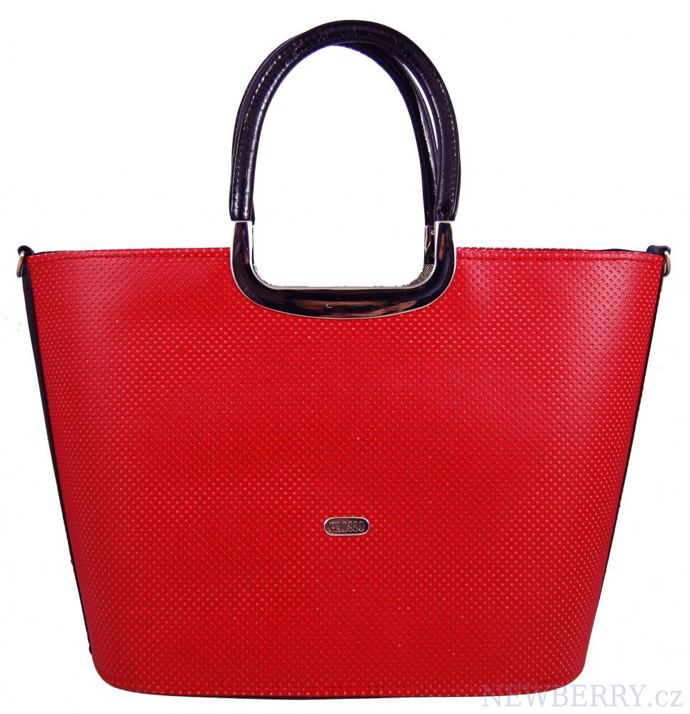 Luxusní kabelka do ruky S7 červená GROSSO