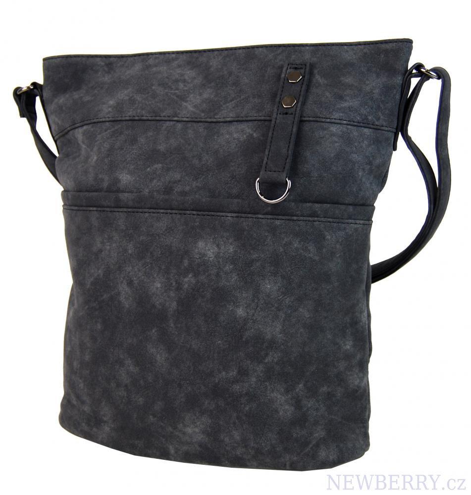 Dámská broušená crossbody kabelka 16007 černá