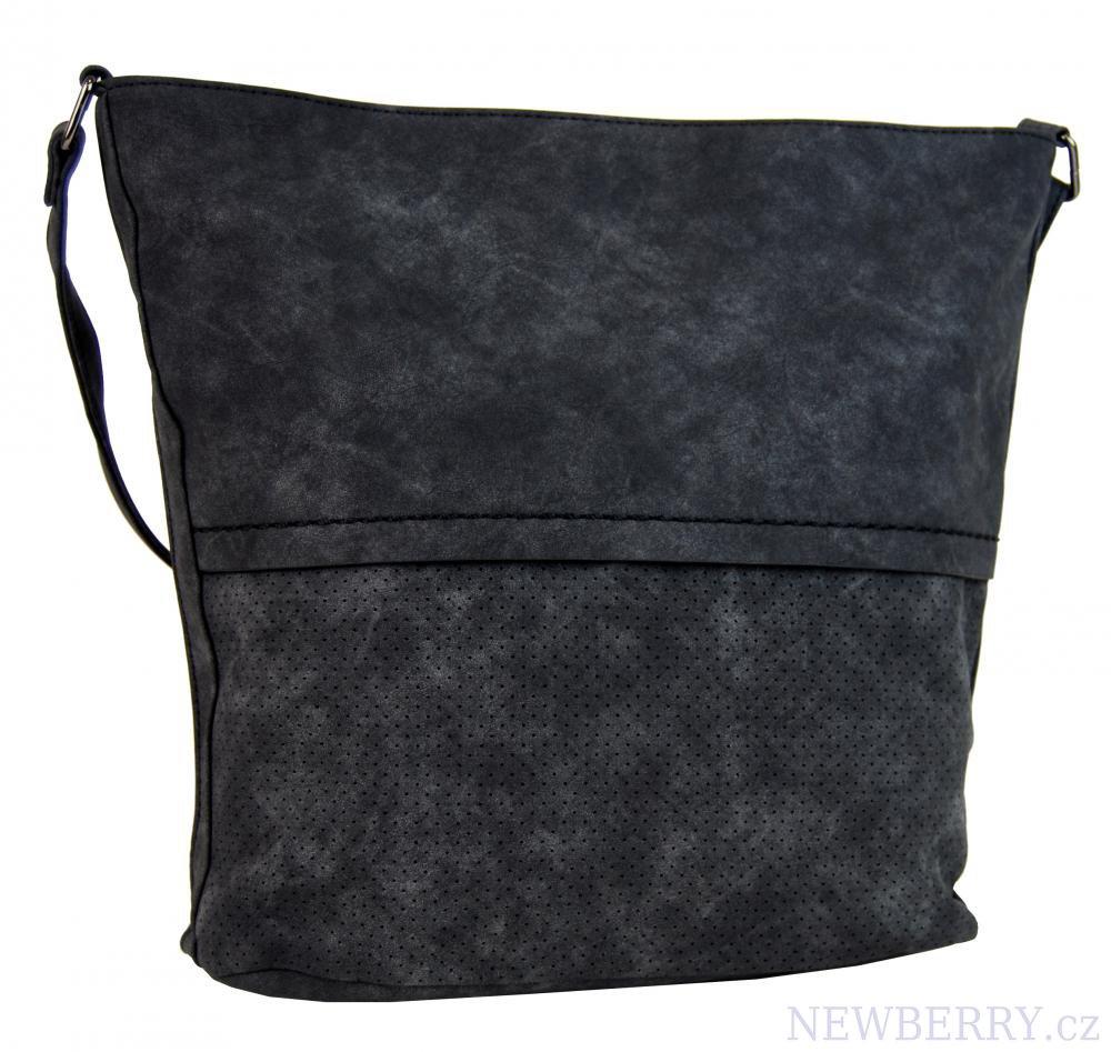 Dámská broušená crossbody kabelka 16010 černá