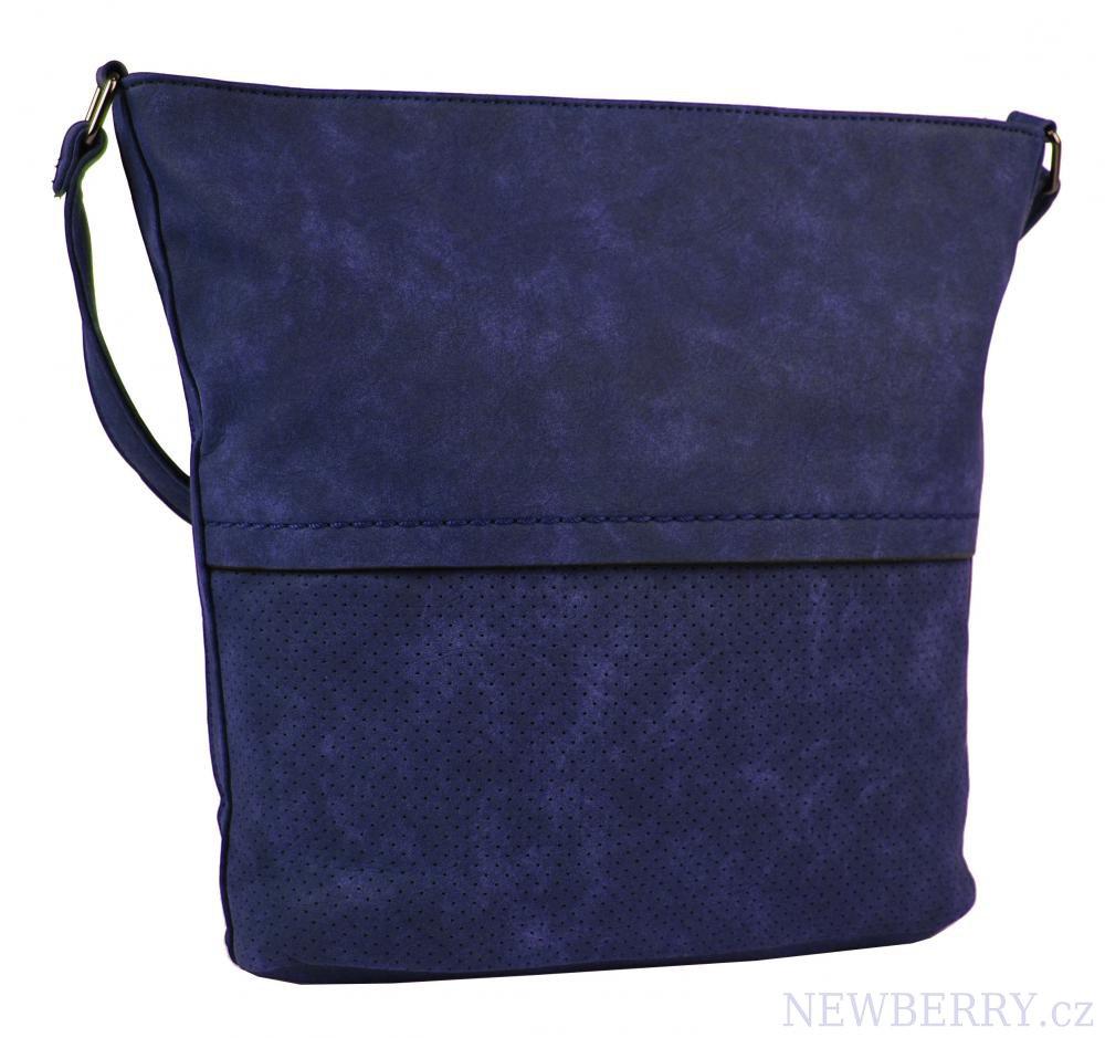 Dámská broušená crossbody kabelka 16010 tmavě modrá