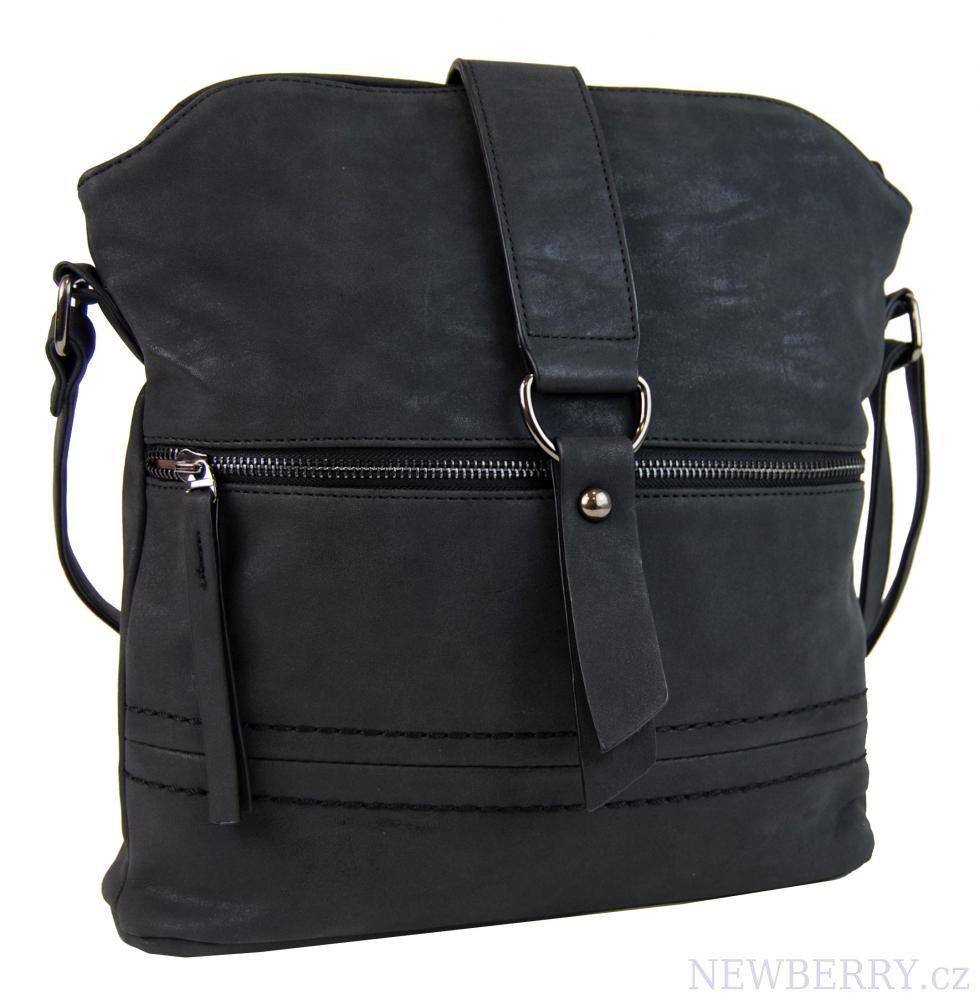 Dámská oblá crossbody kabelka Tapple 16040 černá