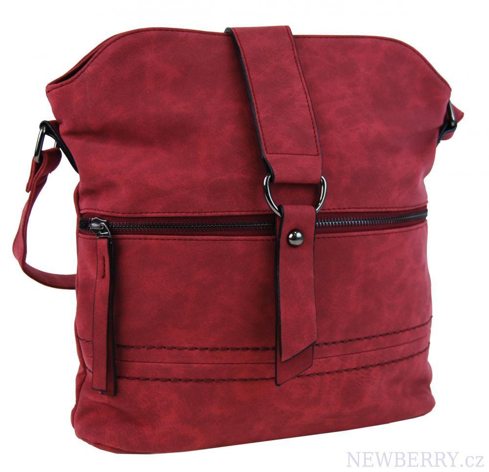 Dámská oblá crossbody kabelka Tapple 16040 červená