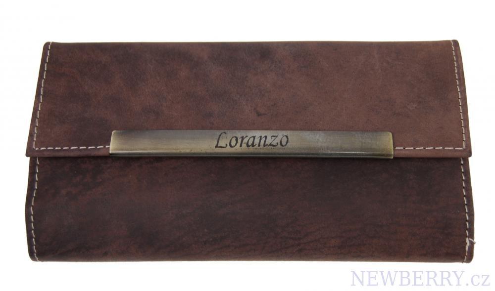 Dámská kožená peněženka LORANZO 946 tmavě hnědá