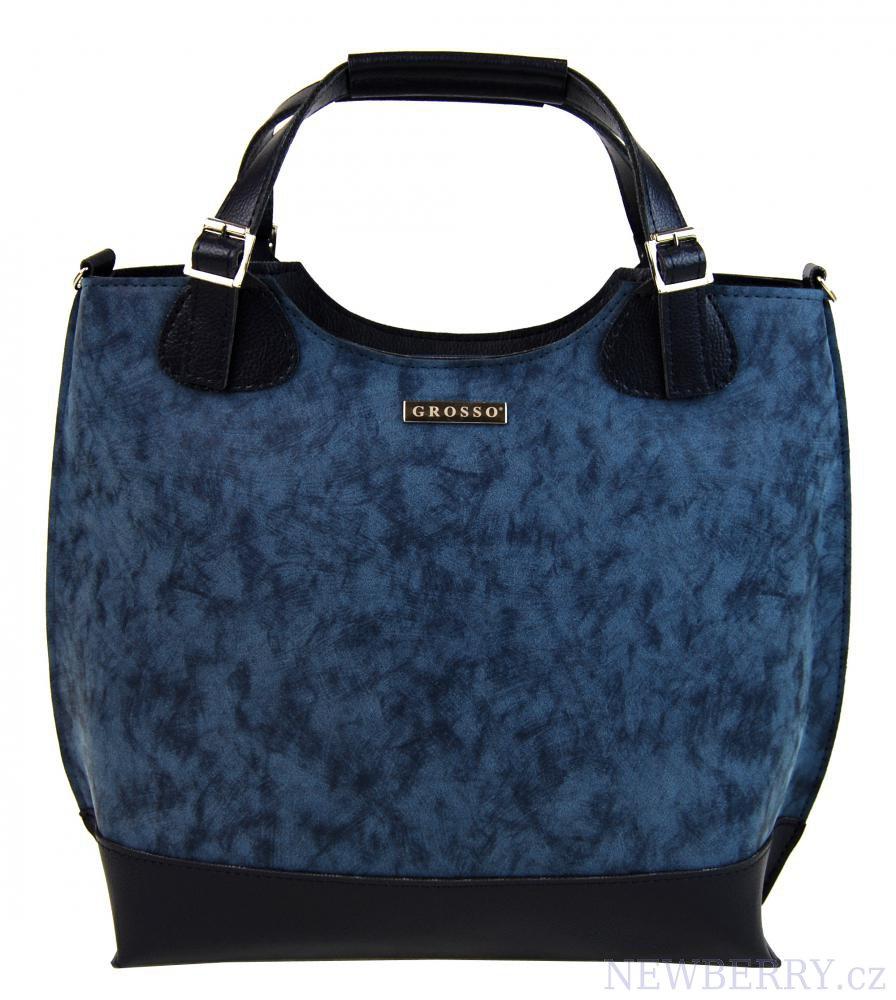 Módní dámská kabelka S581 GROSSO modrá