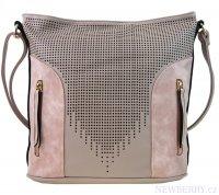 Moderní dámská crossbody kabelka s perforováním NH6078 růžovo-fialková 44df73a7778