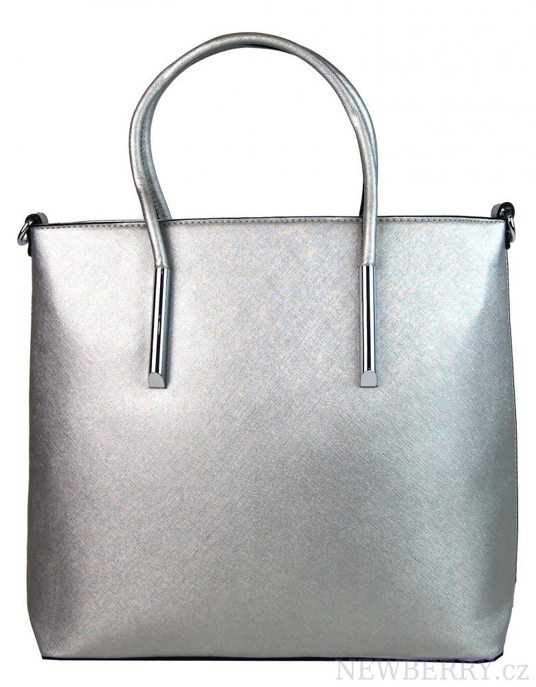 Velká elegantní kabelka YH-1625 stříbrná