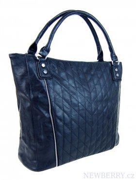 9dc3d602b8 Moderní velká modrá dámská prošívaná kabelka přes rameno YH1651 ...