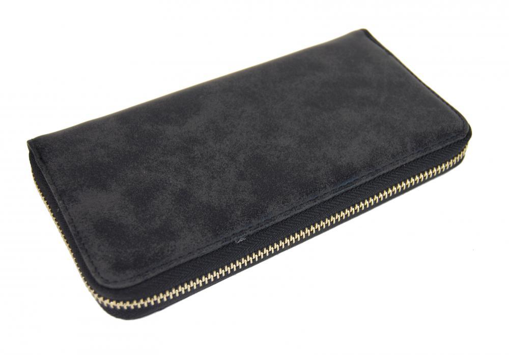 Praktická dámska čierna peňaženka 030