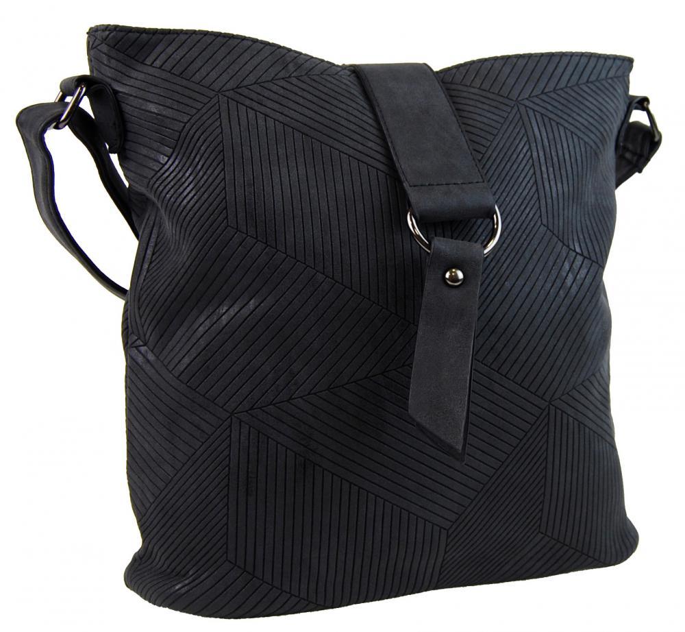 Dámská crossbody kabelka z broušené kůže 1238-3 černá