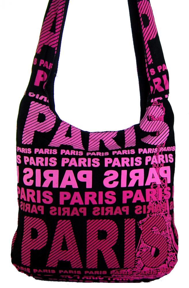 Moderní crossbody taška PARIS s růžovým potiskem 1645-3 ROSE
