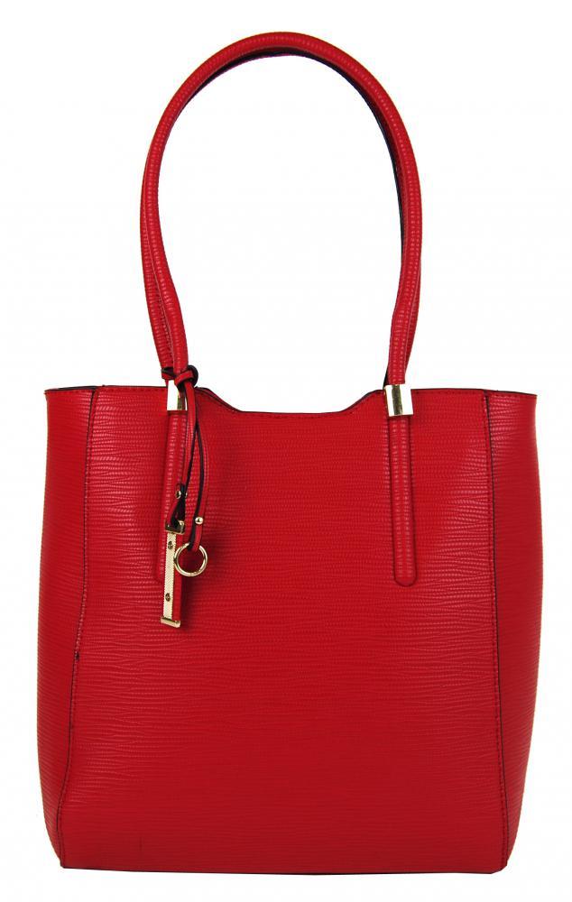 Elegantná vysoká kabelka na rameno 2019-BB červená