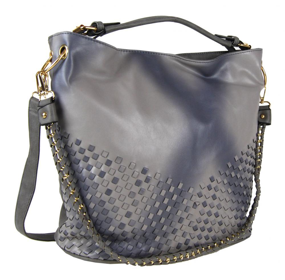 Unikátna kombinovaná kabelka Tapple 3091 sivá