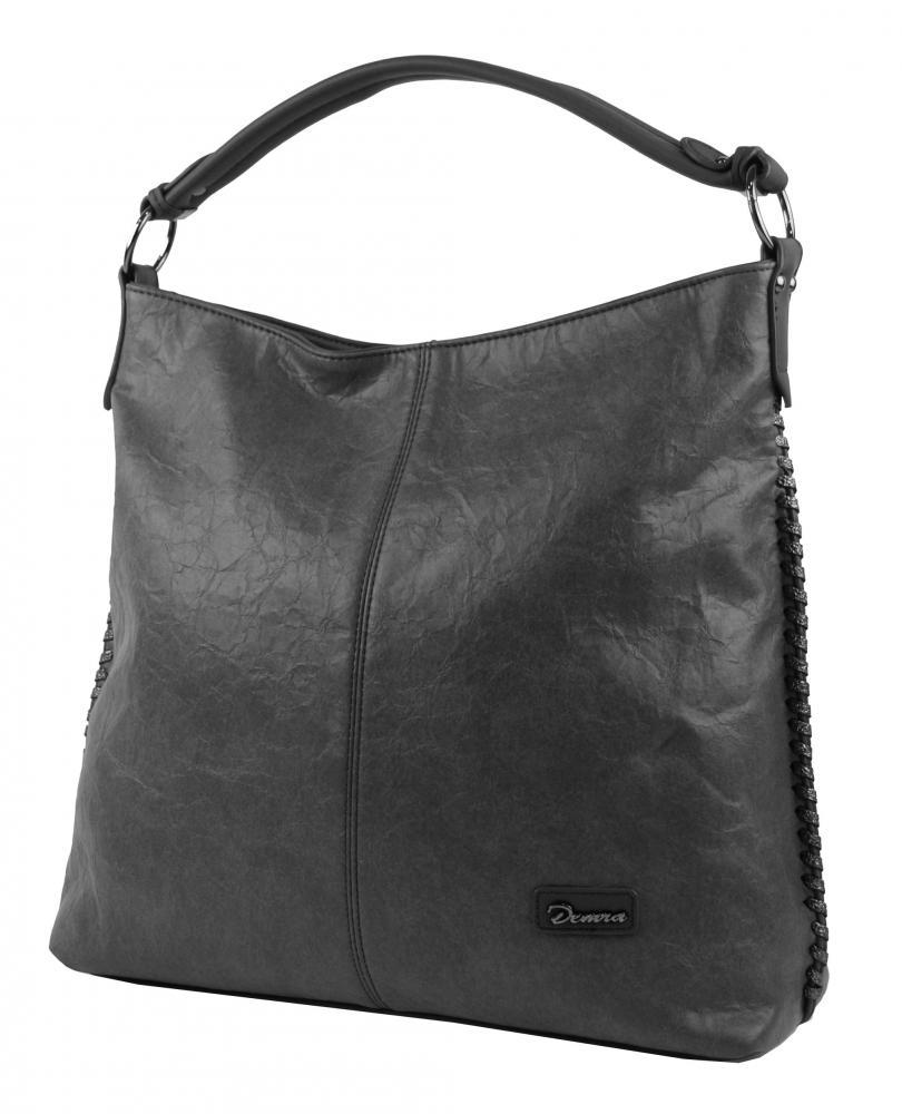 Moderní velká kabelka přes rameno 3813-DE šedá