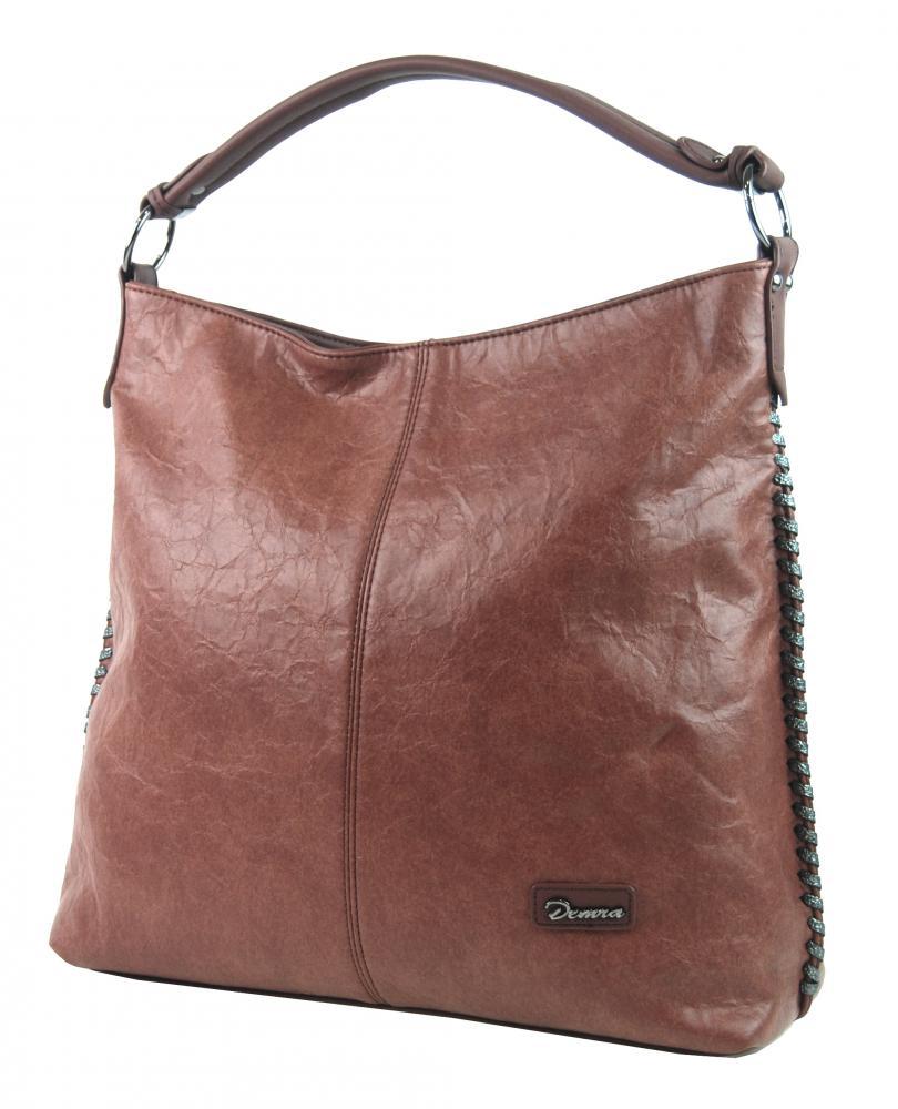 Moderní velká kabelka přes rameno 3813-DE růžová