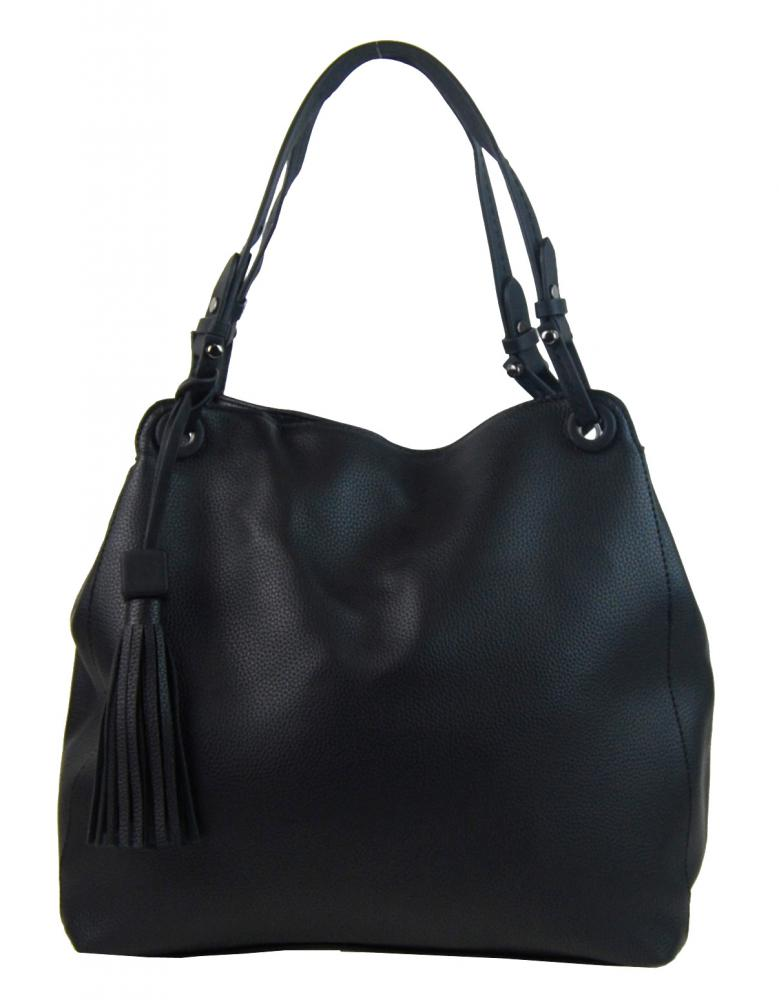 Černá moderní kabelka přes rameno 3990-BB