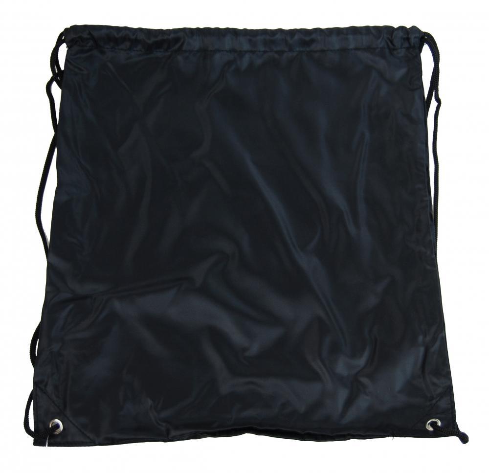 Pytlík do tělocviku / na cvičky jednobarevný stahovatelný černý 3H02