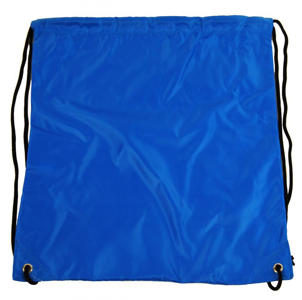 Vrecúško do telocviku / na cvičky jednofarebný sťahovateľný modrý 3H02