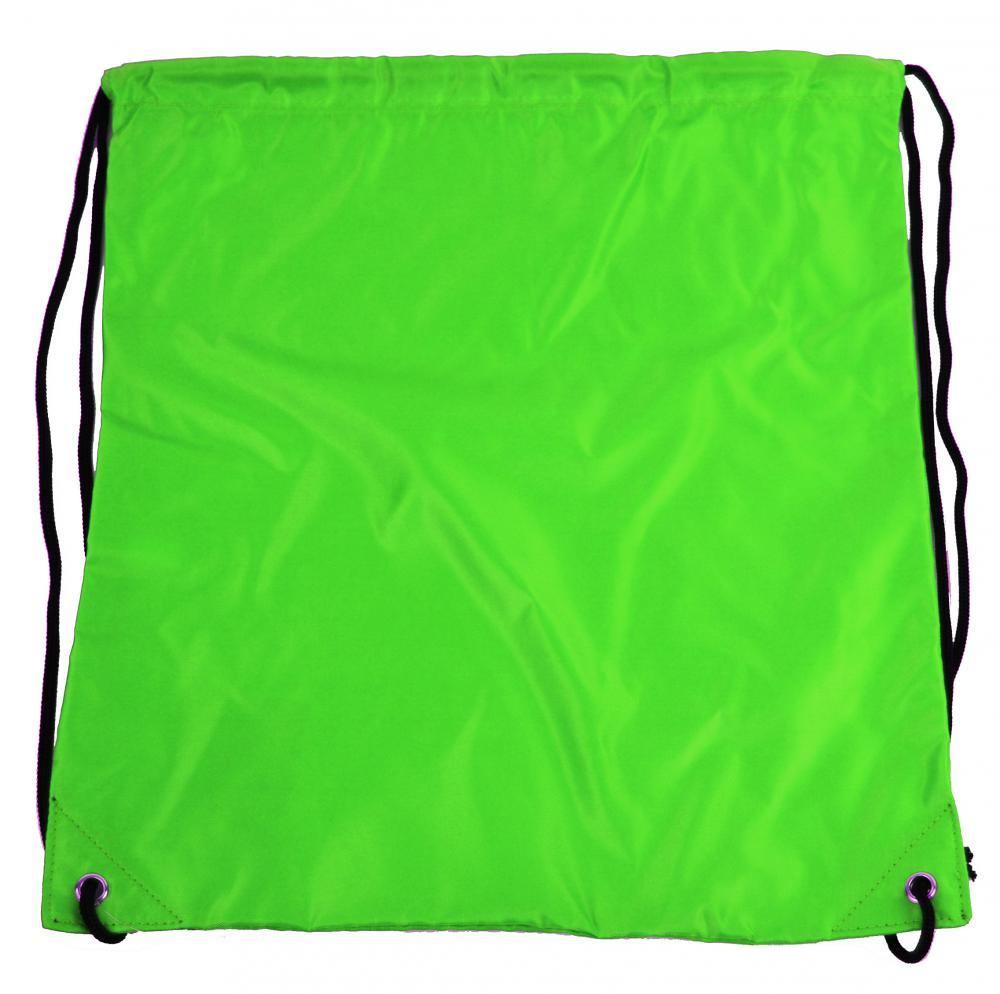 Pytlík do tělocviku / na cvičky jednobarevný stahovatelný zelený 3H02