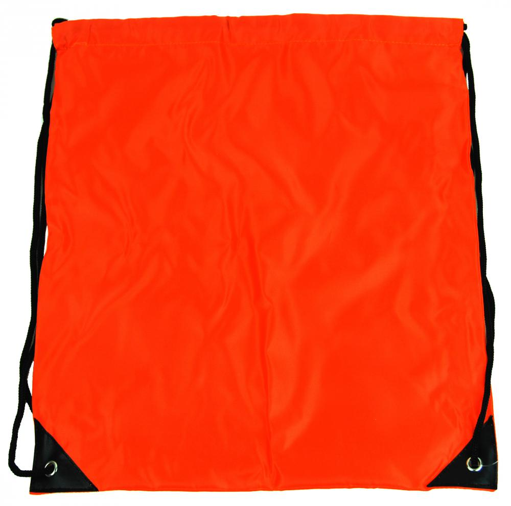 Vrecúško do telocviku / na cvičky jednofarebný sťahovateľný oranžový 3H02