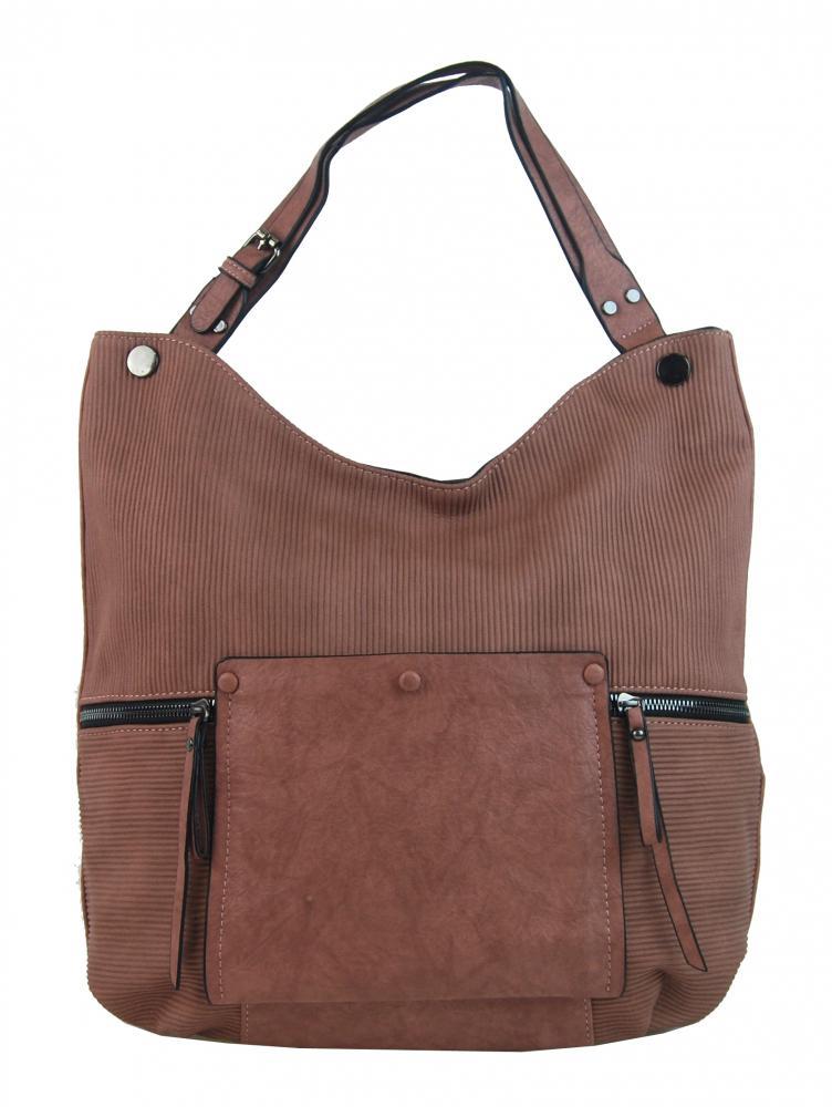 Růžová velká kabelka přes rameno 4145-BB