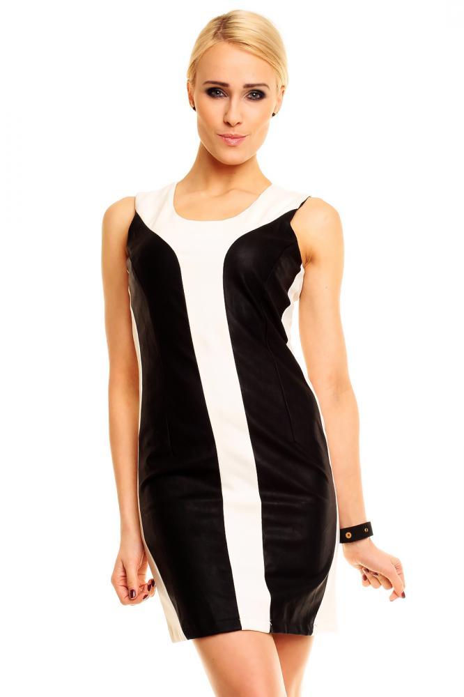 Dámske letné šaty Sweewë čierno-krémové, S