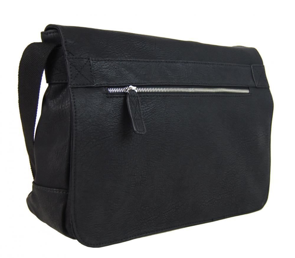 Čierna pánska crossbody taška 662-MH Mahel