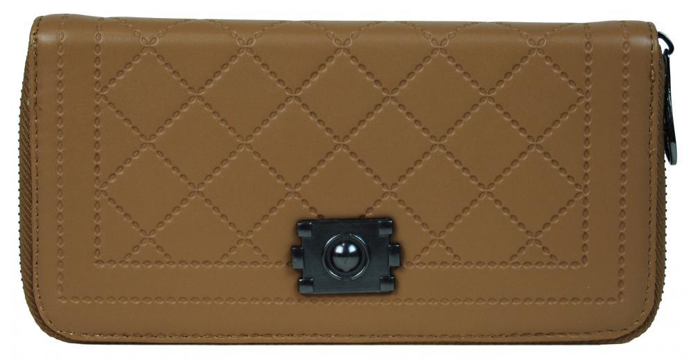 Praktická dámska peňaženka 8012 prírodná hnedá