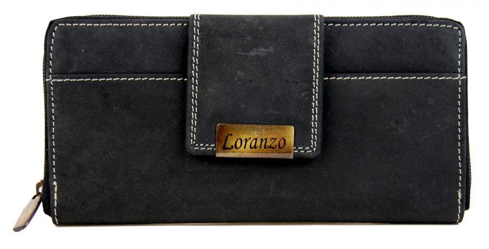 Dámska kožená peňaženka LORANZO 952 čierna