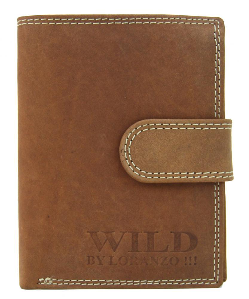 Celokožená pánska peňaženka WILD 992 svetlo hnedá