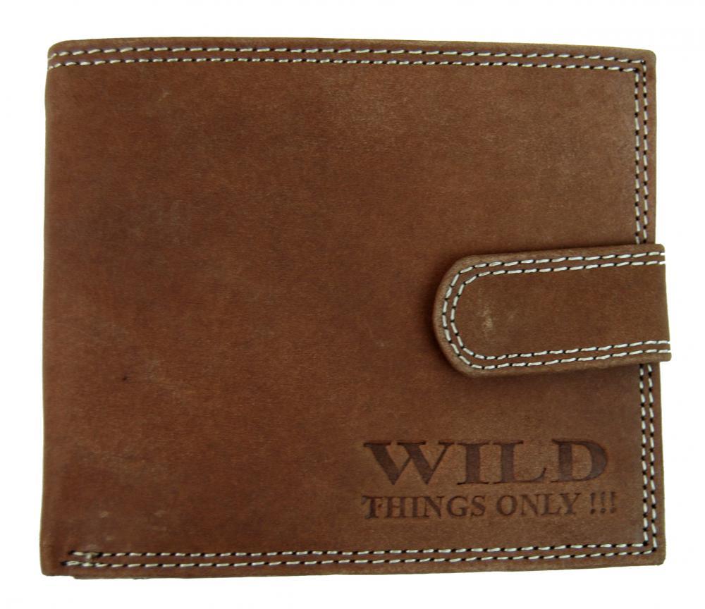 Pánska peňaženka z brúsenej kože WILD 998 hnedá