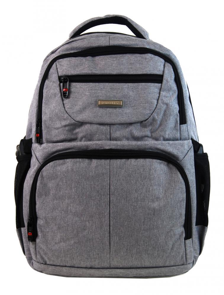 New Berry Elegantní polstrovaný školní batoh L18105 světle šedý
