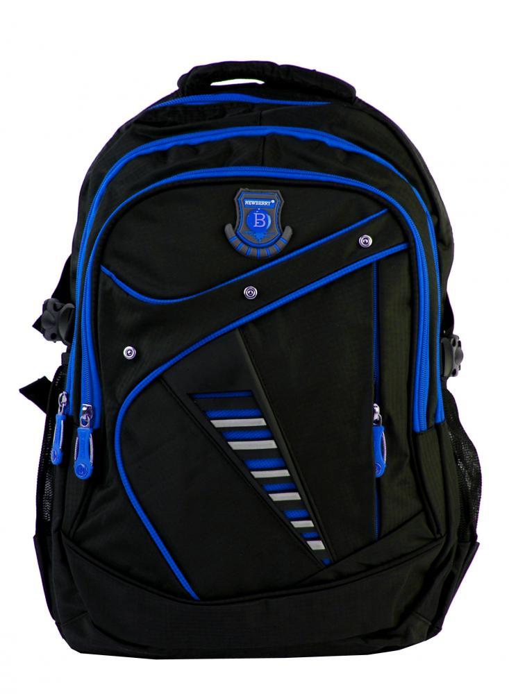 Väčší batoh NEWBERRY do školy aj na športovanie L1911 čierno-modrý