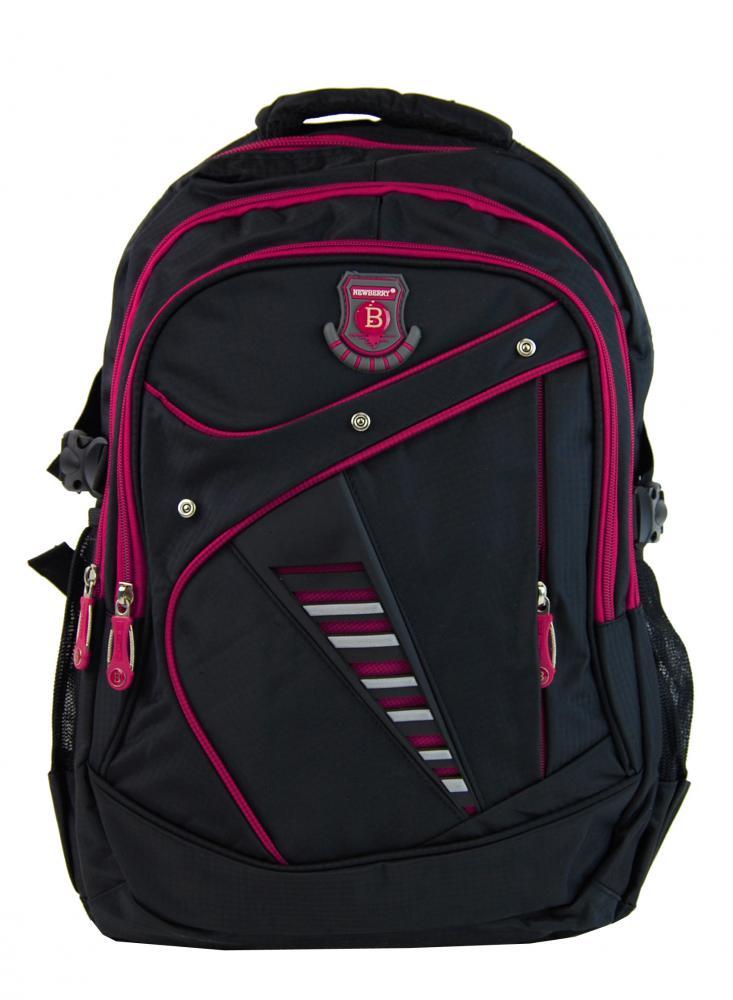 Väčší batoh NEWBERRY do školy aj na športovanie L1911 čierno-ružový