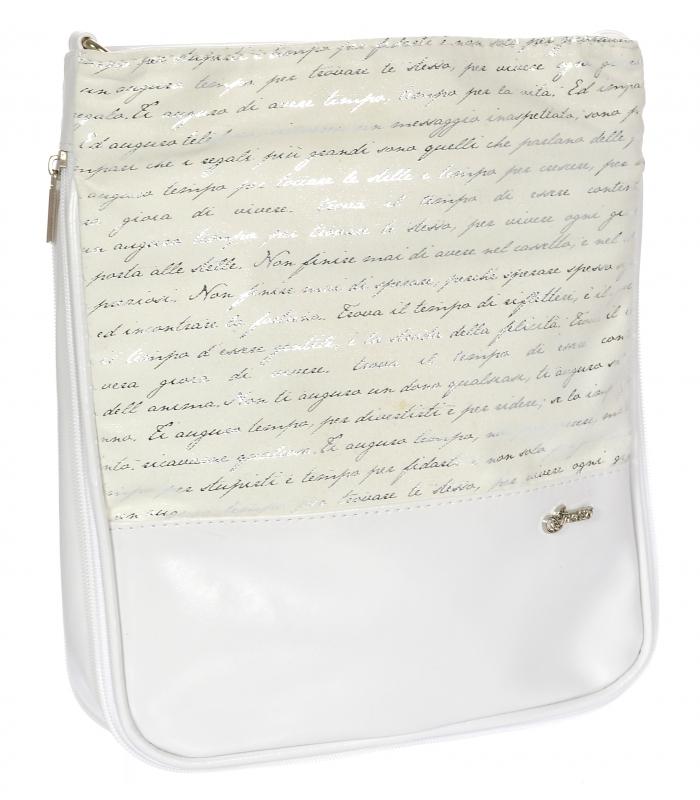 Biela crossbody kabelka s potlačou M151 GROSSO