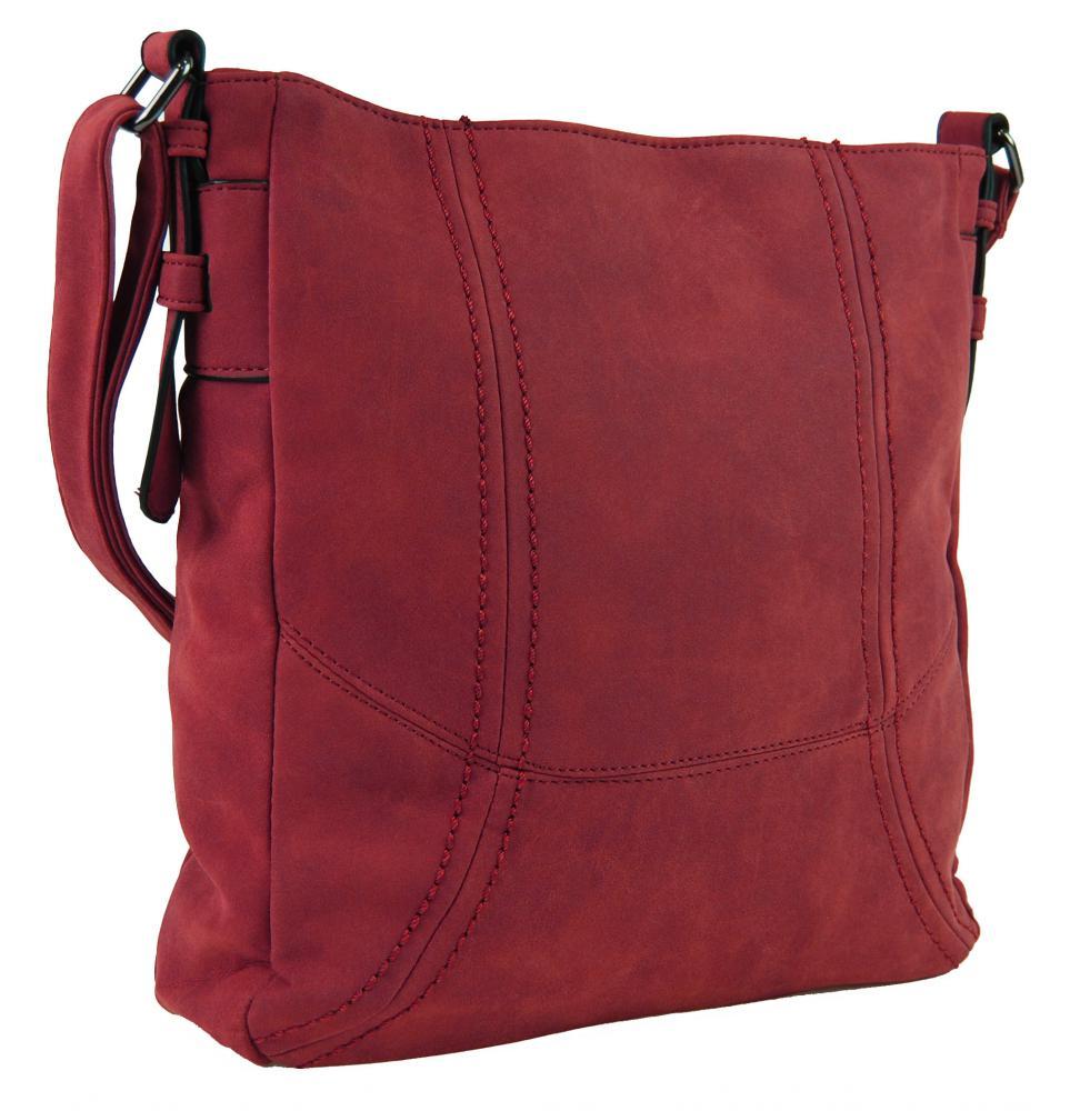 Dámská broušená crossbody kabelka C008-2 červená