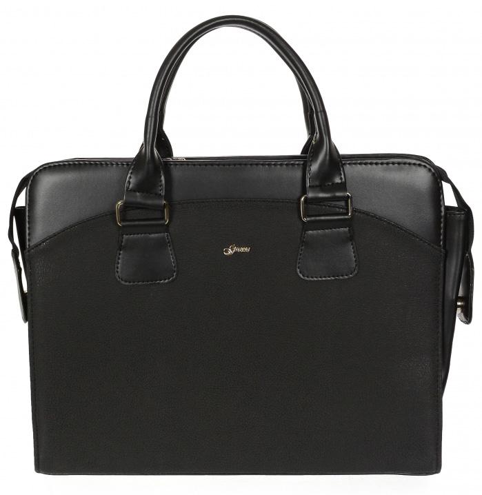 """Dámská luxusní taška na notebook černá matná ST01 15.6"""" GROSSO"""