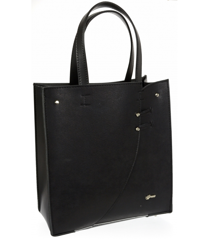 Černá moderní obdélníková  dámská kabelka S753 GROSSO