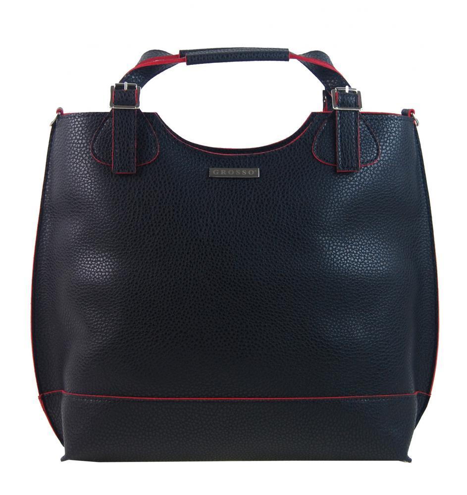28f83ee2d0 GROSSO černo-červená luxusní dámská shopper kabelka