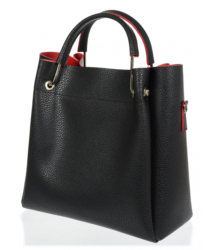 Černo-červená elegantní dámská kabelka S728 GROSSO  2d0573db729