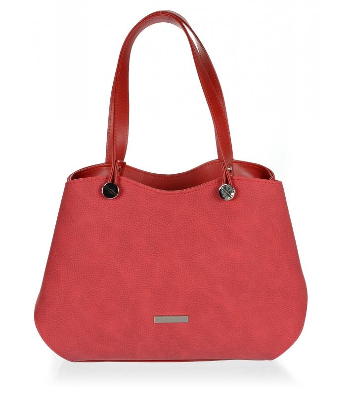 GROSSO červená dámská vyztužená kabelka přes rameno f584cb3e927
