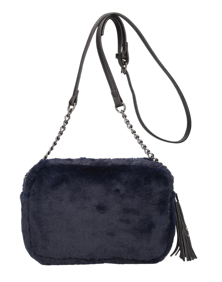 Chlupatá dámská crossbody kabelka LT855 modrá