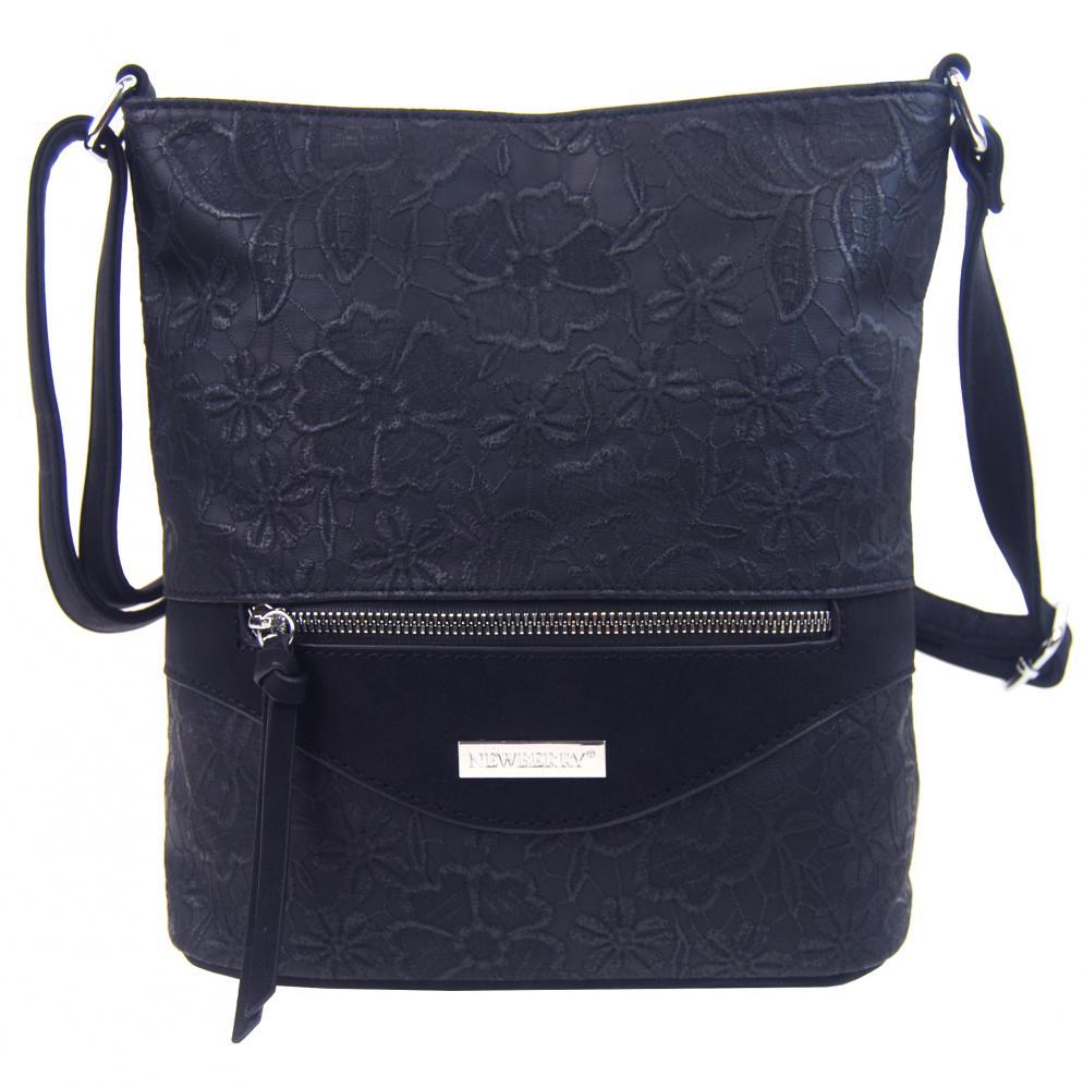 Crossbody kabelka v květovaném designu HB043 tmavě modrá
