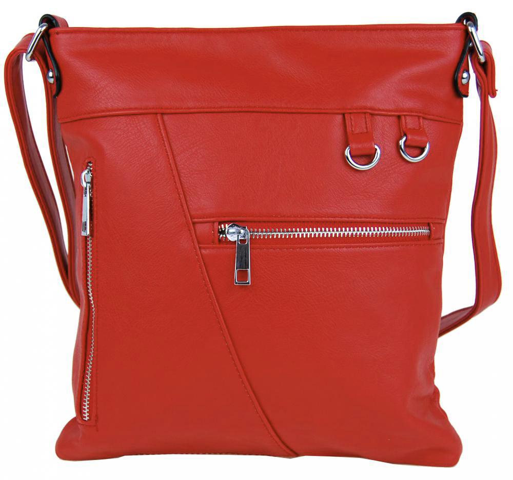 Červená crossbody kabelka Mahel 335-MH