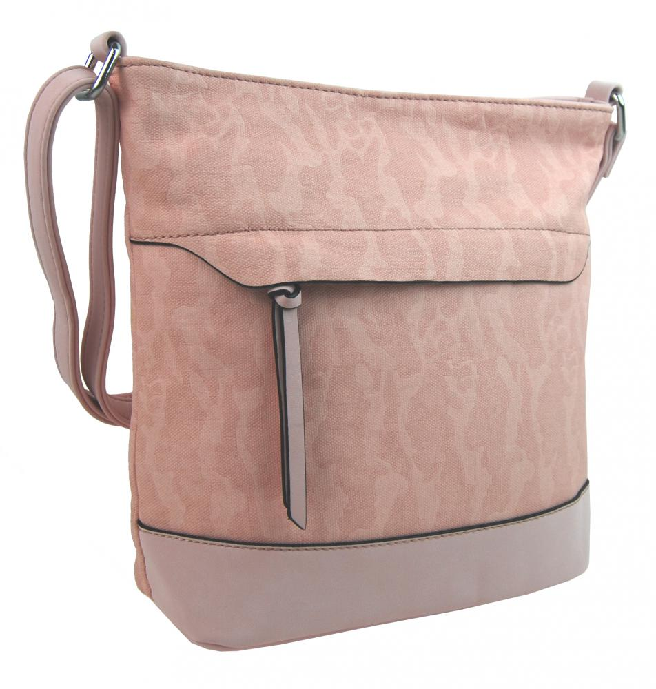 Crossbody kabelka s čelní zipovou přihrádkou HB062 světlá růžová