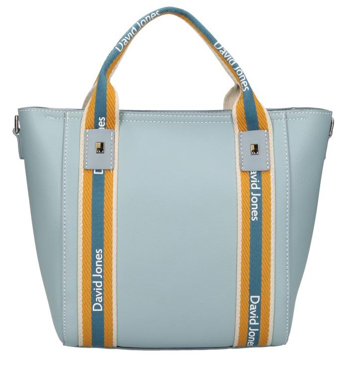 David Jones moderní světle modrá dámská kabelka ve sportovním designu